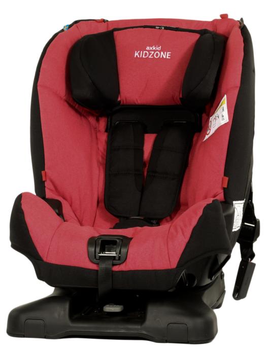 AxKid - Kidzone 9 - 25 kg. Poziționare cu fața sau cu spatele la direcția de mers. Prindere exclusiv în centura mașinii.