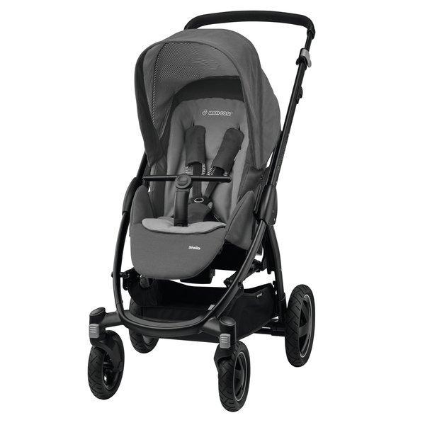 Bebe Confort - Cărucior Trio Loola 2. De la naștere la 3.5 ani. Trei piese: parte sport, landou, scoică. Landoul poate fi fixat în mașină cu centurile de siguranță.