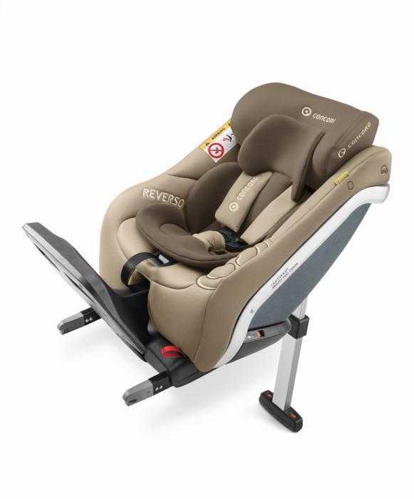 Concord - Reverso Plus i-Size. De la naștere la 4 ani (105 cm). Reductor nou-născut inclus. Poziționare doar cu spatele la direcția de mers. Fixare cu Isofix.