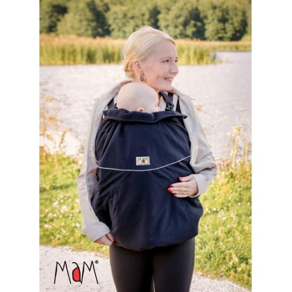 MaM DeLuxe Flex Black - Protecţie universală pentru marsupii. Împotriva frigului şi a ploii, cagulă inclusă (protejează şi bărbia). Prindere extrem de simplă şi rapidă, sistem click-clack. Impermeabil