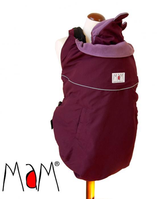 Protectie de iarna MaM Deluxe Deep Burgundy/Tulipwood + Caciula cu urechi de urs