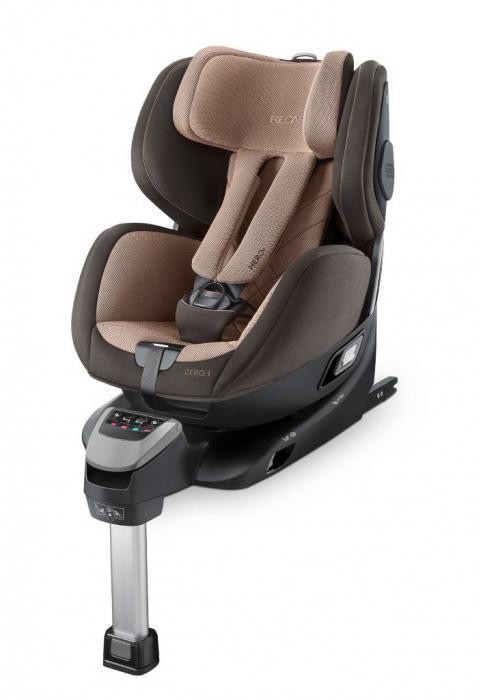 Recaro - ZERO.1. De la naștere la 105 cm (aprox. 4 ani). Rotire 360 grate. Fixare cu Isofix. Poziționare cu fața sau cu spatele la direcția de mers.